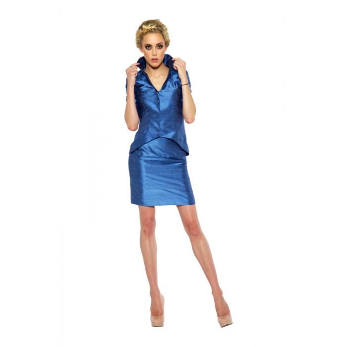 Metallic Suit Jacket Misty Blue Suit Jacket